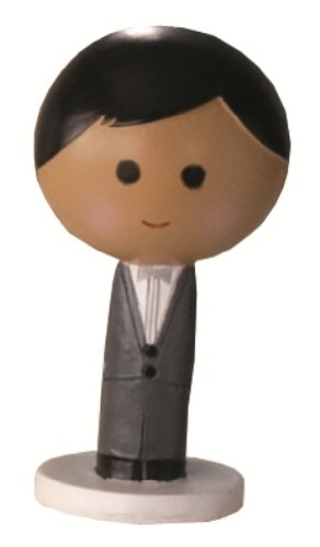 Ivy Lane Design Wedding Accessories Kokeshi Doll, Black Groom, 4-Inch Tall