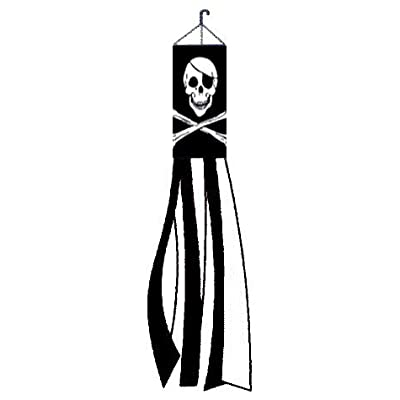 NEOPlex - Pirate/Skull and Crossbones Wind Sock : Sports Fan Wind Socks : Garden & Outdoor