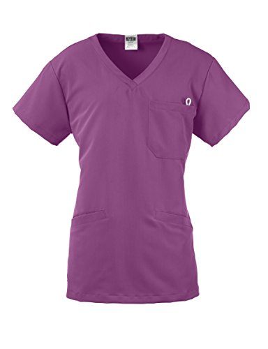 Medline Healthcare 5582PPLXLBerekley AVE. Women's Scrub Top with 3 Pockets, X-smal, Purple (Stethoscope Industries Medline)