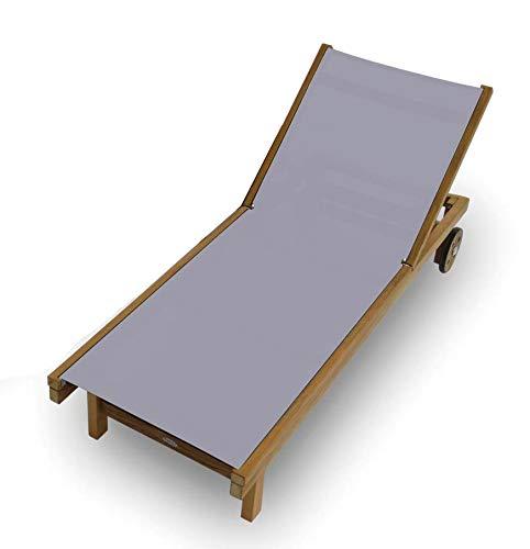 (Royal Teak Collection SDG Teak Lounging Sundaze Sling Chair, Gray)