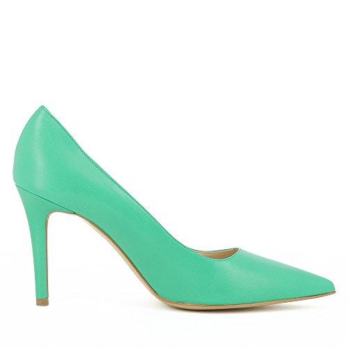 Vert Cuir Lisse Shoes Natalia Evita Femme Escarpins IY7xqX