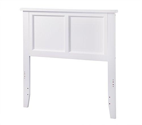Atlantic Furniture Madison Headboard, Twin, White by Atlantic Furniture