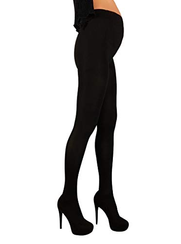 Mama Maternity Pantyhose Tights Opaque 100 den Pregnancy Hosiery (L / 4, Black)