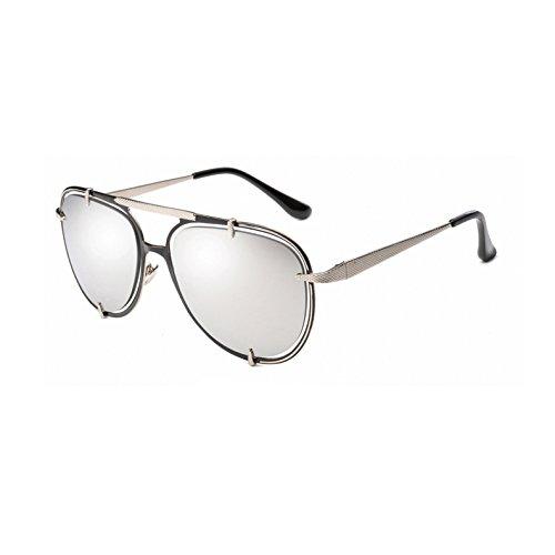 Fuera los vidrios Hombres la de Ahueca el Las C4 Mujeres de Las de de Metal Gradiente hacia AT9017 Sun Sol los Vendimia UV400 Aviador Unisex de C6 Plata Gafas Mujeres Espejo de Zygeo Azul de Oro qwpPwR