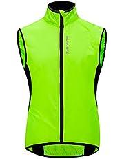 WOSAWE Fietsvest uniseks lichte winddichte MTB-Gilets met reflecterende strips voor hardlopen, fietsen, motorfietsen, paardrijden, wandelen