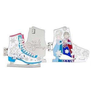 Disney Parks Season's Greetings 2016 Frozen Anna and Elsa Ice Skates Pin -