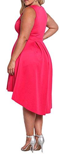 Delcoce Bassa Rossa Vita 3xl Vestiti Xl Alta Riacutizzazione I Più Delle Rosa Donne Dell'impero Prendisole pxwAqw0S