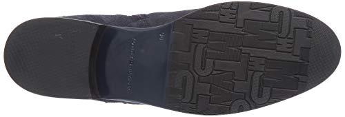 Tommy Hilfiger Damen TH Hardware Flat Bootie Stiefeletten, Blau (Midnight 403), 38 EU 4