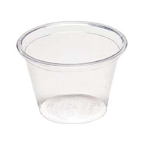 Crystalware Clear Disposable PP Plastic Portion Cups 5 oz. 25 Bags/Case 100/Bag