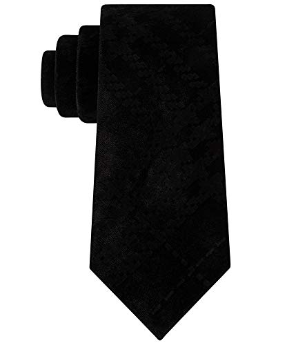 Sean John Men's One Velvet Pack Solid Slim Neck Tie Black Not Applicable