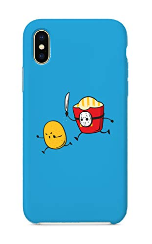 Customized Phone Case Compatible with iPhone X 10 - French Fried Jason Funny Horror Film Parody