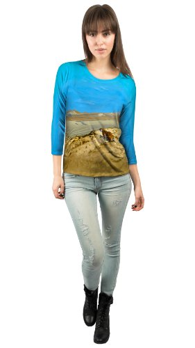 Yizzam - Gerome - ''Tiger On The Watch…''- New Ladies Womens 3/4 Sleeve-2X by Yizzam