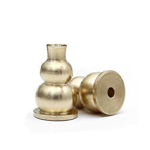 (AFZSHG Brass Mini Incense Holder and Sticks Insence Burner Holder Gourd Shape Coil Incense Holder 2 pcs Copper Polishing)