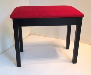 Piano Stool Keyboard Bench Black with red seat HY Shenzen
