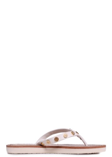 Tory Burch Ricki Flip Flop in White 5