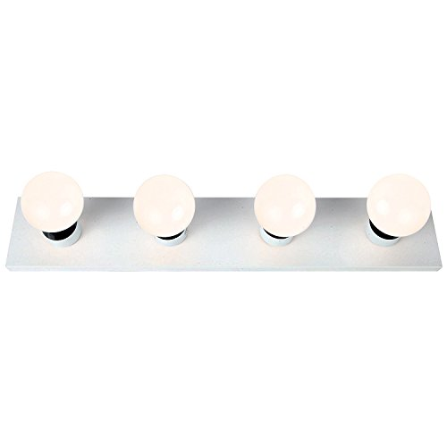 Lighting Energy Efficient Light Fixtures (Brightech - LightPro Vanity Lights- 4 LED Bulbs Included – Energy Efficient Lighting for Everyday Use – Bathroom, Dressing Room, Studio, Vanity – Hardwire Edition – White)