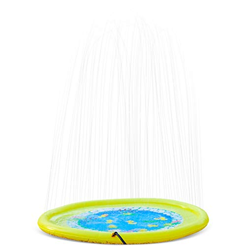 """Splashin'kids Better Than Ever 68"""" Sprinkle and Splash Play Mat Toy for Children Infants Toddlers,Boys, Girls and Kids - Perfect Inflatable Outdoor Sprinkler pad"""