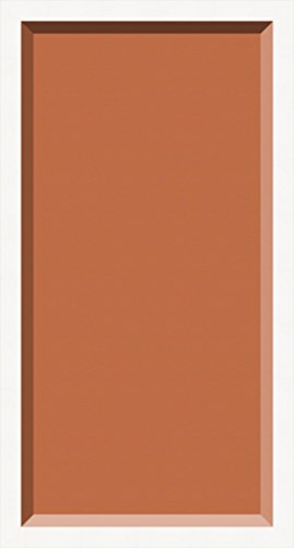 ArtToFrames 12 x 24 Inch Shadow Box Picture Frame, with a Off White 1'' Shadowbox frame and Red Orange Mat (Photo Box Orange)