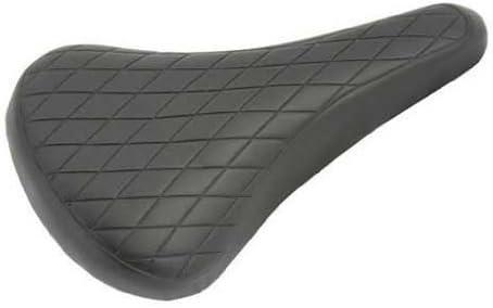 Vinyl Saddle Diamond 702 Black. Bike seat, bicycle seat, Bike part, bicycle part, lowrider bike part, bmx, free style, fixie, road, beach criuser, stretch by Lowrider