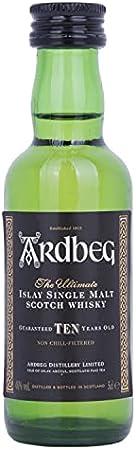 Ardbeg TEN Years Old Islay Single Malt Scotch Whisky 46% - 50 ml