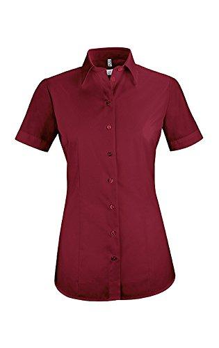 0eb281670eff Greiff Manga Camisas Corta Para Clásico Mujer Burdeos 8r1xwrvEq
