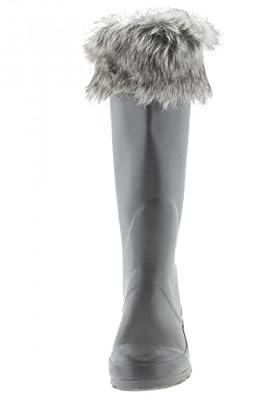 Grey Furry, Gummistiefel aus Fehlproduktion ( Nahtfehler bei Stulpe ), 39