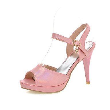 LvYuan Mujer-Tacón Stiletto-Confort-Sandalias-Oficina y Trabajo Informal Fiesta y Noche-Semicuero-Azul Rosa Blanco Pink