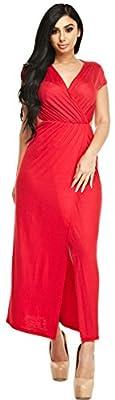 Open-Leg Wrap Maxi Dress - Made in the USA
