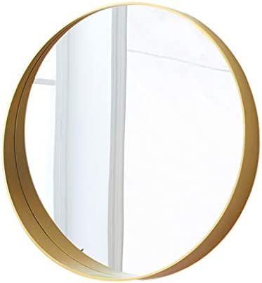 固体木製の浴室ミラー、創造的な円形のドレッシングミラーの洗面所の壁ミラーの掛かるミラーの理髪店の衣類は装飾的なミラーの衣服のミラーを服を着せなさい,C