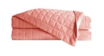 Amazon.com: Belle Epoque 700 Thread Count Quilted Coverlet, Queen ... : coral quilt queen - Adamdwight.com
