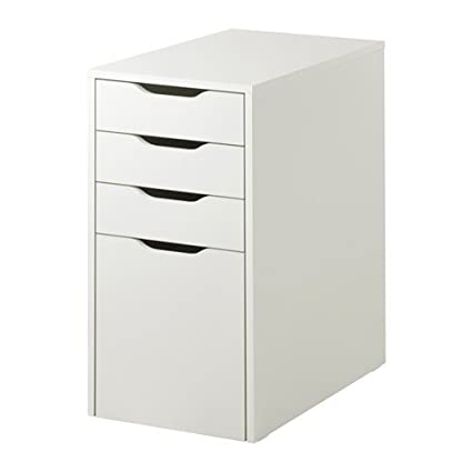 Ikea Alex Drawer Unit Drop File Storage White 103.730.37