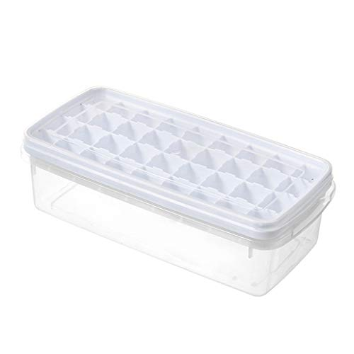 Pangxiannv Ice Cube Maker Ice Tray Kitchen Frozen Ice Cream DIY Mold Storage Containers Ice Cube Trays Silicone Ice Cube Trays with Lids Easy Release Ice Trays Set