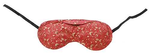 Nature's Approach Aromatherapy Lavender Eye Pillow with Satin Backing Herbal Pack, Celestial Red