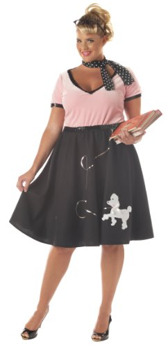 50s Sweetheart Adult Plus Costume Size X-Large (16-18) (Women Scary Costume)