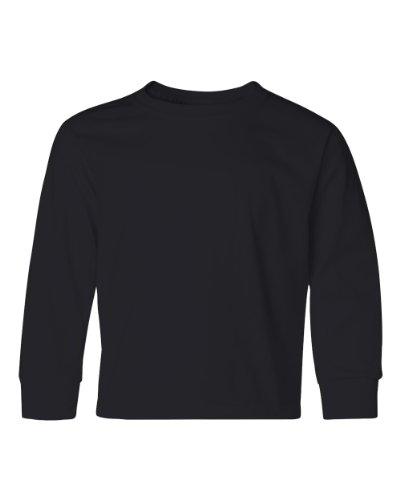 Jerzees Youth Heavyweight Blend Long-Sleeve T-Shirt, Small, Black (Youth Jerzees Blend Heavyweight)