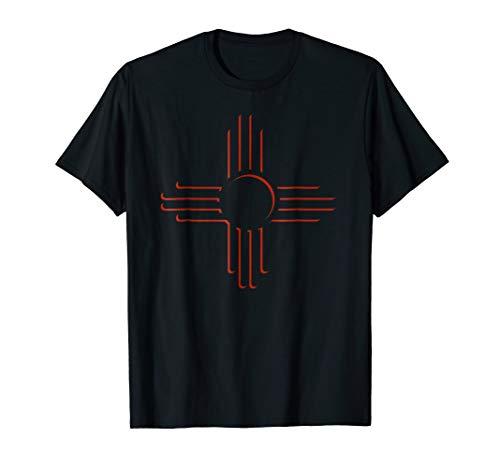 New Mexico Shirt Unique Red Zia Symbol Flag TShirt Gift - Symbol New T-shirt
