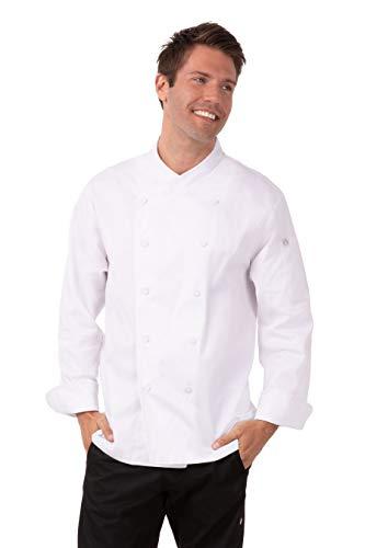 Chef Works Men's Oslo Premium Cotton Chef Coat, White, 64 from Chef Works