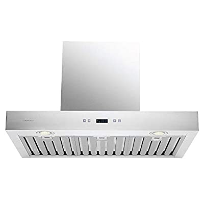 "CAVALIERE 30"" Inch Range Hood Wall Mounted Stainless Steel Kitchen Vent 900 CFM"