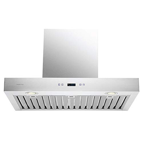 CAVALIERE 30″ Inch Range Hood Wall Mounted Stainless Steel Kitchen Vent 900 CFM