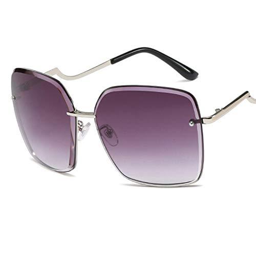 KANGDE fashion Gradient lens Square rimless women sunglasses sun glasses ladies vintage big glasses UV400