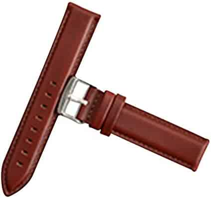 bb3cf4b36ad Light Brown Watch Bands Genuine Leather Top Calf Grain Leather Watch Strap  13mm for Men and