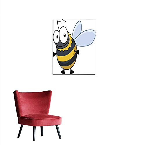 longbuyer Photo Wall Paper Flying Cartoon Bumble bee or Hornet Mural 16