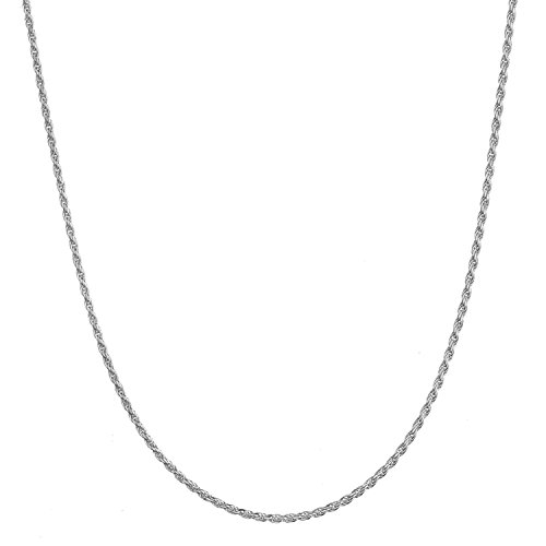 Sterling Silver 1.6mm Italian Diamond Cut Rope Chain Necklace - 24