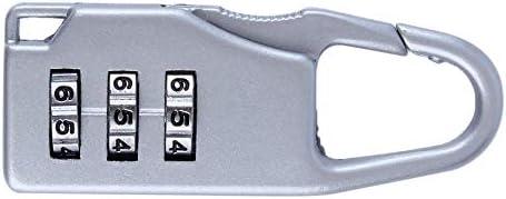 k/ästen Werkzeugschr/änke Code Lock Zipper Padlock RoxTop 1 St/ück Neue Sicherheits 3 Kombination Reise-Zink-Legierung Koffer Gep/äck-Beutel Schmuck