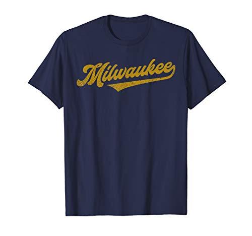 (Milwaukee Baseball | Brewer Baseball Retro Gift T-Shirt )