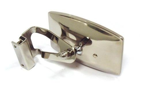 For Minis 948 Classic Car Rectangular Clamp On Stainless Steel Overtaker Mirror