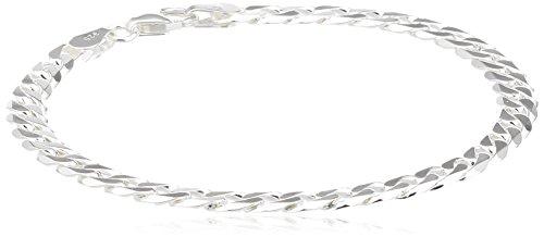 ChainArt Unisex-Armband Panzerkette 925 Sterling Silber Länge: 18,7 cm 4028576672793