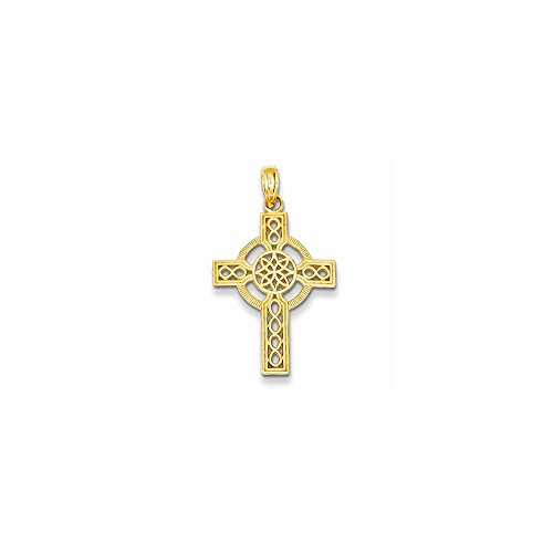 14k Dia-Cut Celtic Cross Pendant, Best Quality Free Gift Box