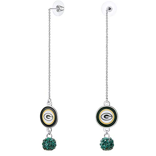 Pro Specialties Group NFL Green Bay Packers Chain Pierce Shambala Earrings