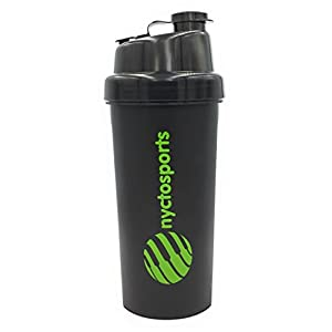 nyctosports BPA Free Gym Protein Shaker Sipper Bottle, 700 ml